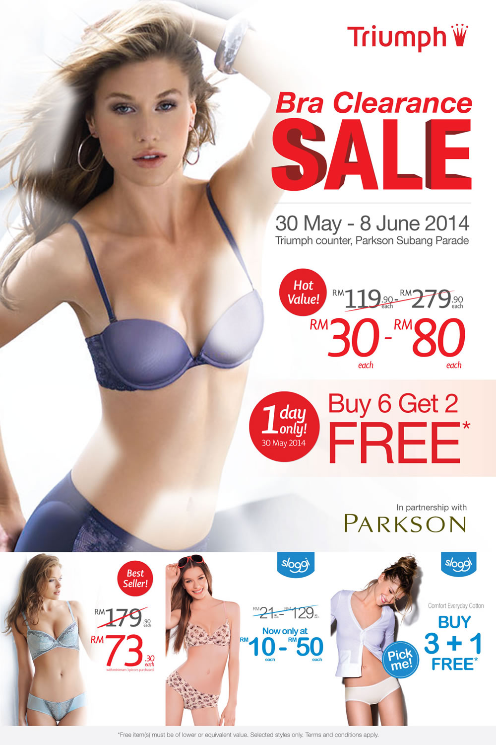 TRIUMPH Bra Clearance Sale 30 May - 8 June 2014